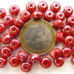 0050246 Opaque Red Hematite Rondelle 7 x 4 mm. 18 Pc.-0