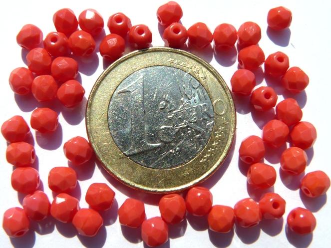0050254 Koraal rood facet 4 mm.-0