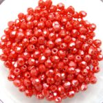 0050255 Luster Opaque Light Red 3 mm. 60 Pc.-0