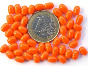 0060012 Opaque Orange eivormige kraal 7 x 5 mm. 50 Pc.-0