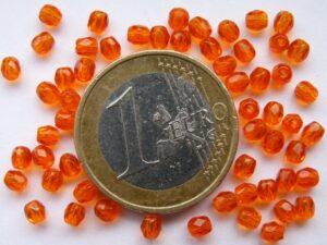 0060102 Oranje ( Light Hyacinth) facet 3 mm. 75 Pc.-0