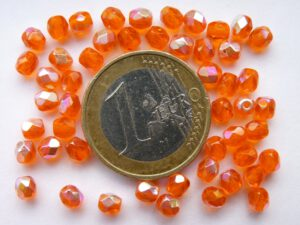 0060104 Oranje facet met AB 4 mm.-0