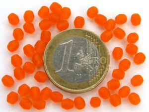 0060112 Frosted Hyacint (Oranje) facet 4 mm.-0