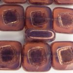 0070005 Pink Opal Bronze, Table cut 14 x 5 mm. 4 Pc-0