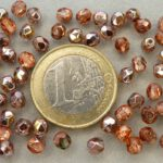 0070308 Crystal Capri Gold facet 3mm. 75 Pc.-0