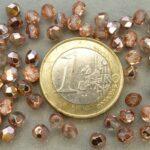 0070309 Crystal met Capri gold facet. 4 mm.-0
