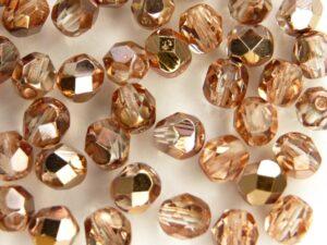 0070310 Crystal met Capri Gold facet 6 mm. 25 stuks-0