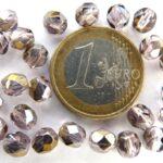 0070321 Bronze Iris Rosaline facet 6 mm. 25 stuks-0