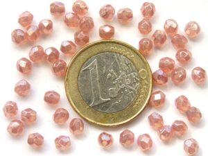 0070340 Luster Milky Pink facet 4 mm. 40 Stuks-0