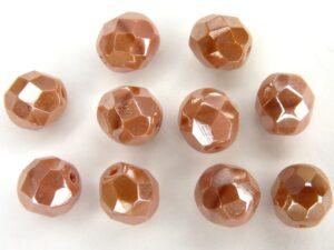 0070359 Donkerder Pink Coral met luster Facet 6 mm.-0