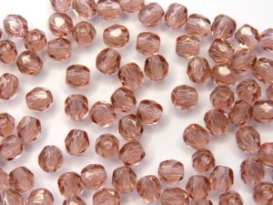 0070401 French Rose facet 4 mm. 40 Pc-0