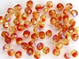 0070421 Fire Opal AB facet 4 mm. 40 Pc.-0