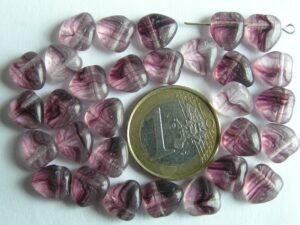 0080282 Paars met transparant hartje 30 stuks-0