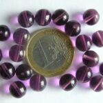 0080298 Amethyst round 8 mm. 20 Pc.-0
