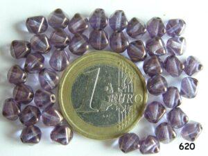 0080319 paarse dubbele piramide met glans-0