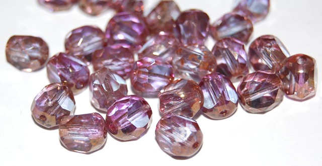 0080514 Crystal Purple Bronze Special Cut facet 8 mm. 15 Pc.-0