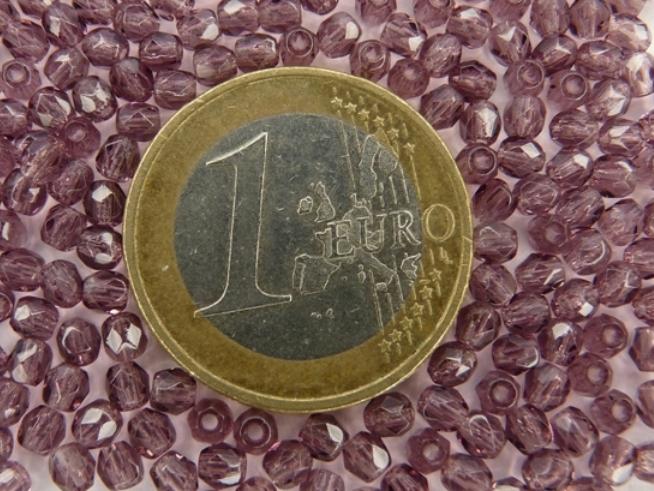 0080538 Medium Amethyst Facet 2.5 mm. 65 Stuks-0