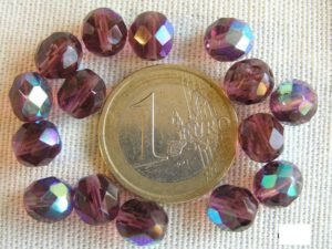 0080544 Amethyst AB facet 8 mm. 15 Pc.-0