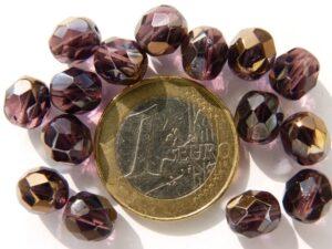0080553 Amethyst met half celsian facet 8 mm.-0