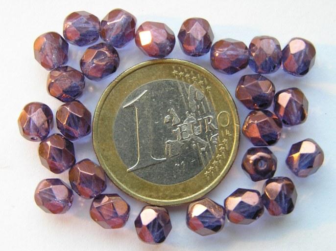 0080556 Paars , violet (Vega)Luster glans 6 mm.-0