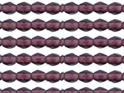 0080581 Dark Amethyst facet, 3 mm.-0