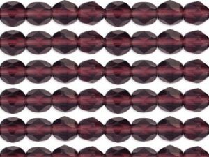 0080582 Dark amethyst facet 4 mm.-0
