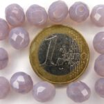 0080613 Light Opal ( Milky) Amethyst facet 8 mm.-0