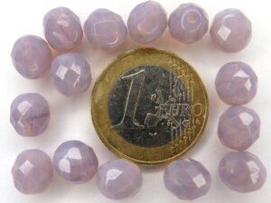 0080613 Light Opal ( Milky) Amethyst facet 8 mm.-0