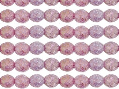 0080618 Luster-Stone Pink facet, 8 mm.-0