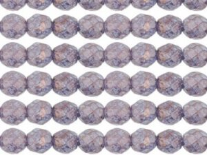 0080619 Luster-Stone Amethyst facet, 8 mm. 15 Pc.-0