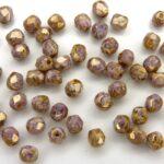 0080624 Chalk Senegal Violet Luster facet 4 mm. 50 Pc.-0