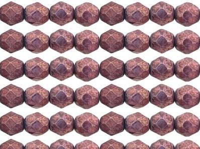 0080635 Luster Metallic Amethyst facet 6 mm. 22 stuks-0
