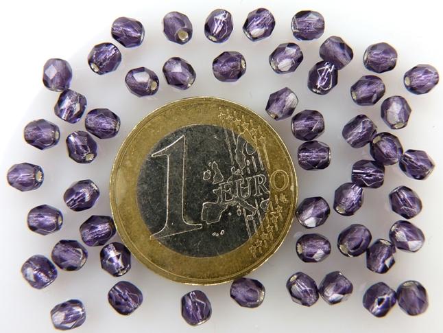 0080671 Tanzanite silverlined facet 4 mm.-0