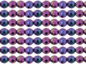 0080693 Jet Iris Purple facet 8 mm. 15 Pc.-0