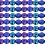 0080698 Iris Blue facet, 8 mm.-0