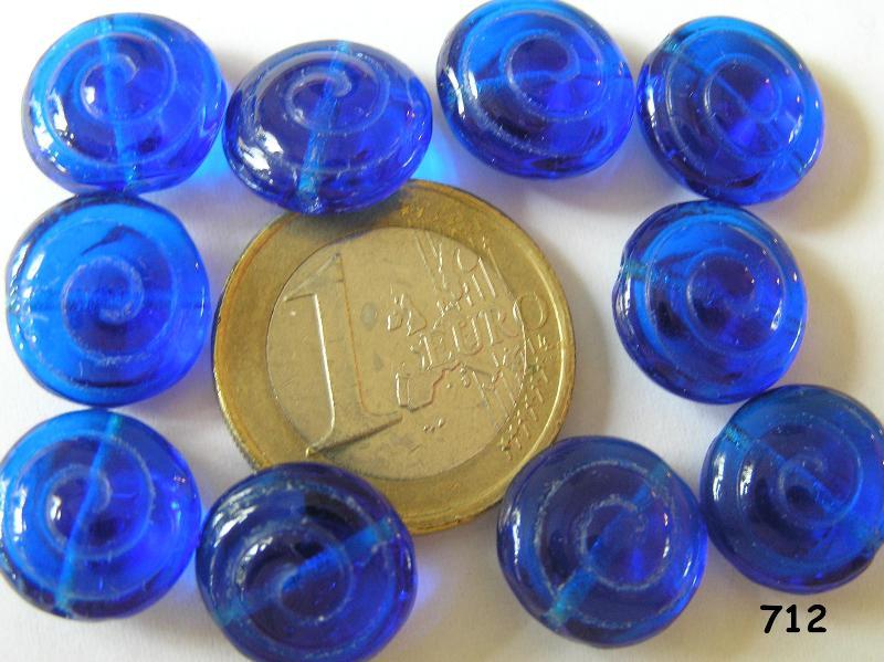 0090012 Kobaltblauwe schijf 10 Pc.-0