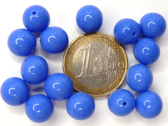 0090066 Opaque Blue Rond 10 mm. 15 stuks-0