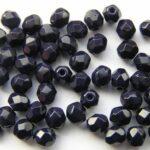 0090102 Opaque Navy Blue facet 4 mm.-0