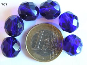 0090103 Donkerblauw ( Cobolt Blue) facet 12mm-0