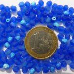 0090107 Matte Cobalt-AB facet, 4mm. 50 stuks-0
