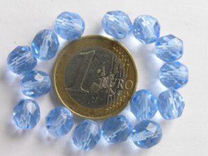 0090118 Light Sapphire facet 8 mm.-0