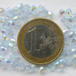 0090123 Light Sapphire facet met AB 3 mm. 75 stuks-0