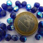 0090143 Matte Cobalt-AB facet, 6 mm. 25 stuks-0