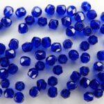 0090147 Cobalt Blue facet, 3 mm.-0