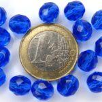 0090150 Sapphire Blue Facet 8 mm. 15 Stuks-0