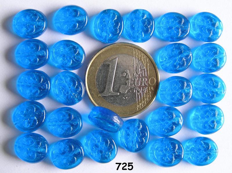 0090204 Blauw / aqua ovaal schijfje-0