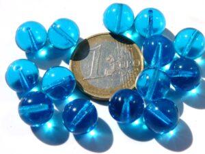 0090218 Aquamarine Round 10 mm. 14 Pc.-0