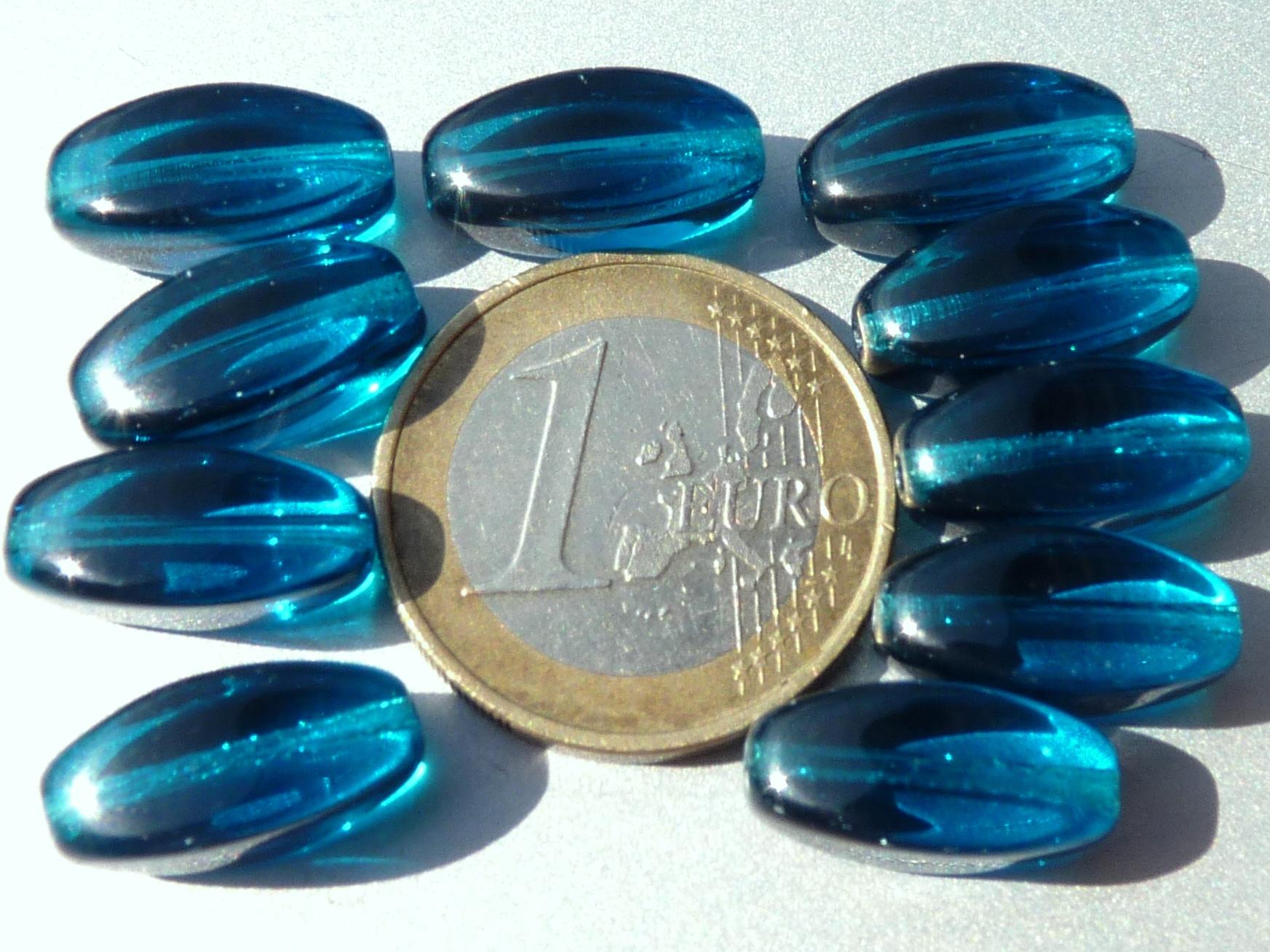 0090220 Aqua hoekig ovaal 10 stuks-0