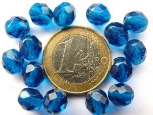 0090305 Dark (aqua) blauw facet 8 mm.-0
