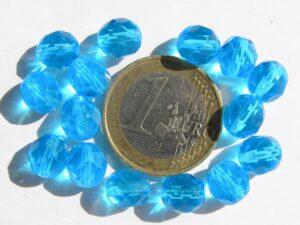 0090312 aquablauw facet 8 mm.-0